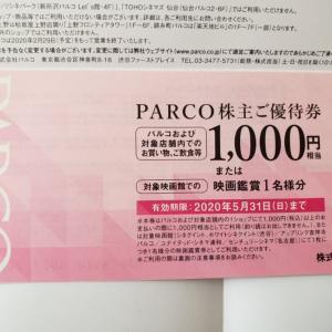 【パルコ株主優待券到着】長期利回り5,13%☆渋谷PARCOもうすぐグランドオープンです!