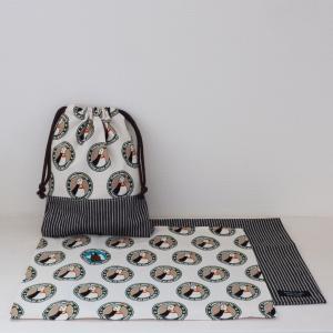 ペンギンのランチョンマット&給食袋セット