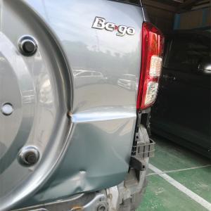 ダイハツ Bego(ビーゴ)のバッグドア、リヤバンパー修理‼️