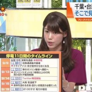 千葉の台風被害を現地取材 丸山裕理アナが「災害時のSNS活用」を提言