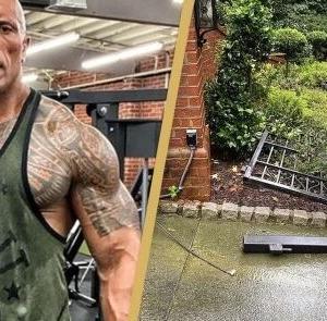 屈強な元プロレスラー、停電で開かなくなった電動ゲートをレンガの門扉から素手で剥ぎ取る(アメリカ)