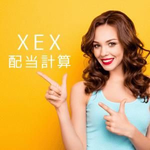 XEX1枚あたりの配当金