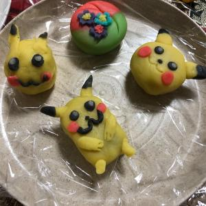清水さんと作った和菓子2 ブサ可愛いピカチュウ編♡