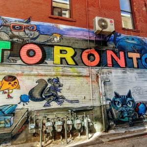 自粛生活中の街歩き。Street Art in Toronto