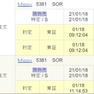 Mipox(5381)、本日の出来高は発行済株式数に迫る