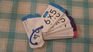 小学校・計算カードの名前書きって必要?