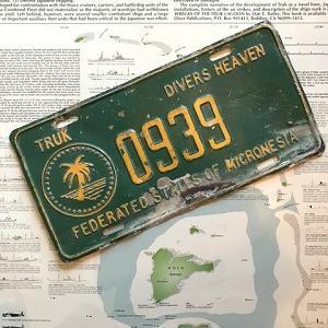 ご当地ナンバープレート盗難事件海外編・チューク州はダイバー天国