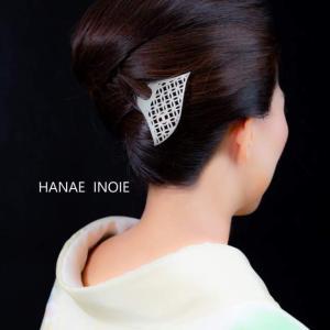 着物好き保護者の入学式ヘアーアレンジ☆京都の銀製かんざしアーティスト
