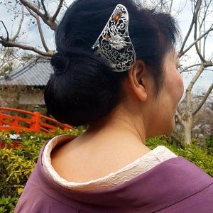 着物ヘアスタイル⑤京都の銀製かんざしアーティスト☆HANAE