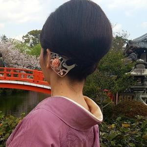 着物ヘアアレンジ⑥京都の銀製かんざしアーティスト☆HANAE