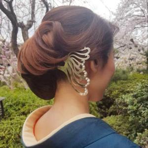 着物ヘアアレンジ⑨京都の銀製かんざしアーティスト☆HANAE