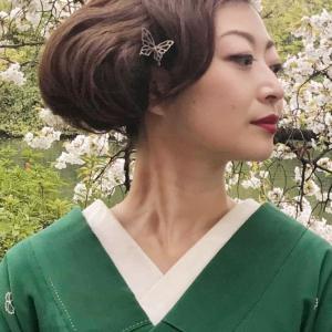 きもの姿は、髪で決まります!蝶々の銀製かんざし☆銀製かんざしアーティスト☆HANAE