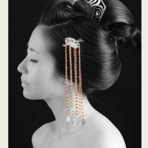 モデルさん?美容師さん?どっちも?!京都の銀製かんざしアーティストHANAE