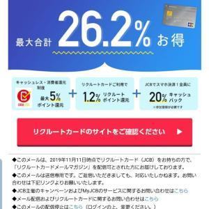 12月15日まで20%キャッシュバッグキャンペーン