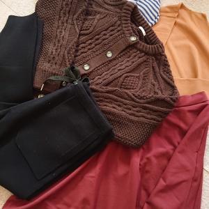 GU届きました(⌒∇⌒)かわいい茶色のカーデ♡