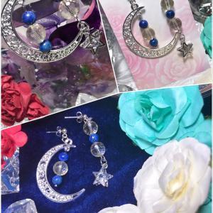 新商品のご紹介~透き通る聖なる石と夜空の月と星、楽園(エデン)~。