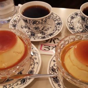 虎ノ門の喫茶店ならここ。 #昭和レトロ喫茶 「 #ヘッケルン 」で #ジャンボプリン セット
