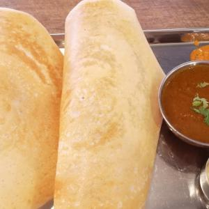 休日に、平日お気に入りの #南インド料理 を食べに家族と #虎ノ門 へ。「 #ナンディニ虎ノ門店 」でサンデーランチ
