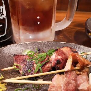 残業帰りに時間調整の一杯@ #八重洲 の #もつ焼き 「 #日本橋ばんばん 」で1,000円の「 #チョイ飲みセット 」