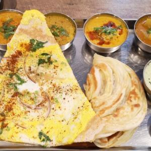 大好きな #南インド料理 を食べに家族と一緒に休日ランチ。「 #ナンディニ虎ノ門店 」で週末スペシャルの #エッグドーサセット に大満足