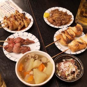 月例「 #下町はしご酒の会 」#浅草橋 編② 浅草橋と言えばここ。「 #西口やきとん 本店」で #塩煮込み 、#皿ナンコツ 、#もつ焼き をホッピーで流し込む