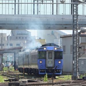 『大雪1号』となるキハ183系代走編成が旭川駅へ回送