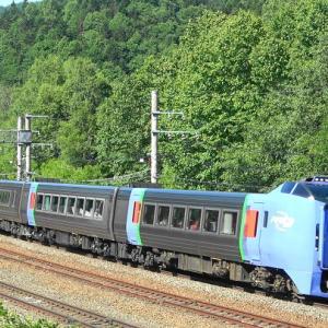 石勝線《串内信号場》で特急列車・貨物列車を撮影