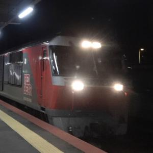 終電間際の白石駅で待望のロイヤルエクスプレス甲種輸送を捕獲