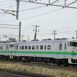 函館本線厚別駅付近で鉄分補給