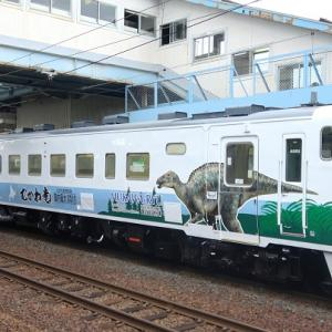 キハ40形《カムイサウルス(むかわ竜)復興トレイン》ラッピング車両を回送