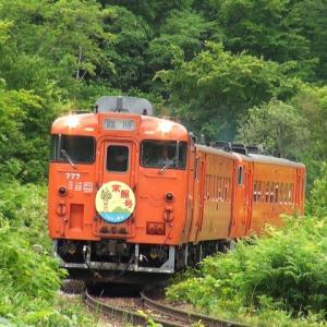 キハ40形タラコ3両の団臨が音威子府駅へ(2013年7月)
