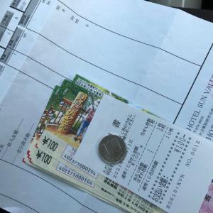 宝くじを確認してもらう~100円当たり