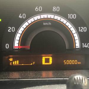 日産モコ50000キロ到達