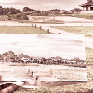 水彩deサクッと風景スケッチLIVE 奈良 雨上がりの平城宮跡 1話 2019