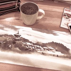 水彩de風景スケッチ 日曜画家協会 法起寺を描く 2019