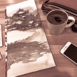 水彩de風景スケッチ 日曜画家協会 法輪寺を描く 2019