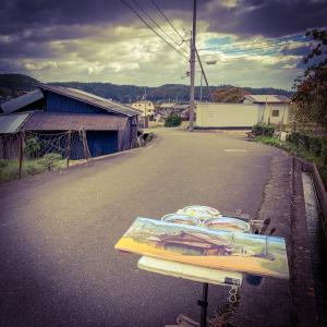 水彩deスケッチ動画 大阪 高槻の原にてトタンの家屋を描く 2019