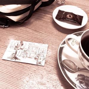 散歩deスケッチ 中崎町 1 cafeを描く 2020