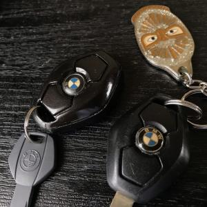 E46の中古リモコンキーでキーホルダーを作った Making a key ring from E46 used key fob