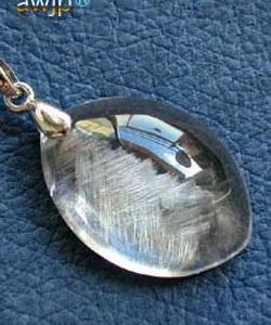 白金針水晶(プラチナルチル)のペンダントトップ