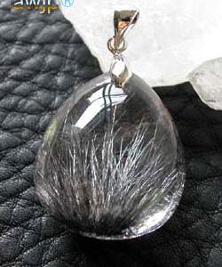黒髪水晶 黒針水晶のペンダントトップ
