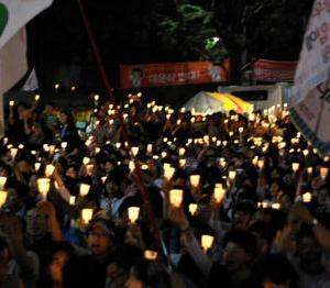 韓国でロウソク集会が計画され始める