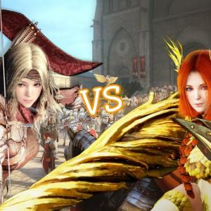 Black desert mobile) Hunter VS Lancer PVP [黒い砂漠 mobile] #拡散RTお願いします