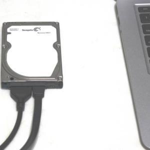 ノートパソコンのHDDのデータを変換ケーブルで救出するには?