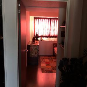 燃える寝室