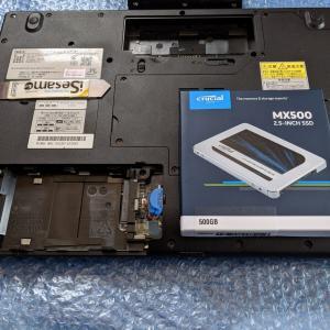【LaVie LL750/H】メモリ交換、SSDへの換装と増設手順一覧 (NEC製)