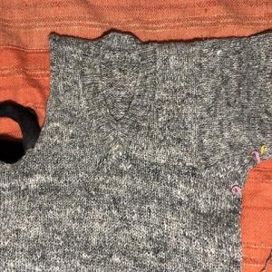 ベルギー麻の長袖セーター、左袖が少し復活、ちょい黄昏リリー