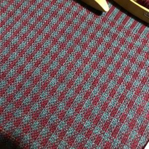 グレーとローズで綾千鳥、いろいろ迷ってやっぱり200cm、次は平織りのチェック
