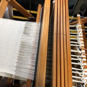 コットンでワッフル、織り終えたー😀、今夜から降るらしい、、、。