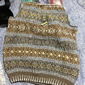 フィンランド毛糸で古典模様、そういえばこの模様!